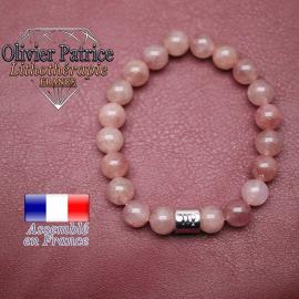 Bracelet quartz fraise et son signe astrologique en alliage
