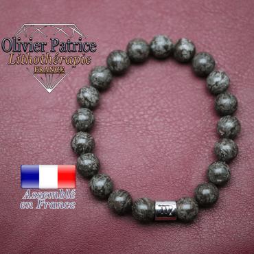 Bracelet obsidienne neige brune et son signe astrologique en alliage