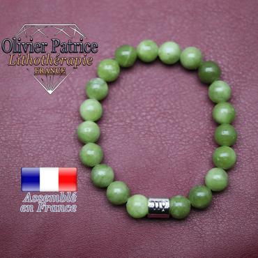 Bracelet jade néphrite du Canada et son signe astrologique en alliage