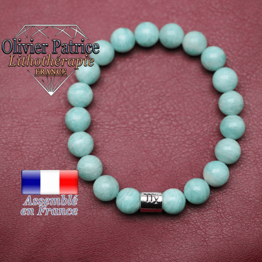 Bracelet amazonite russe et son signe astrologique en alliage
