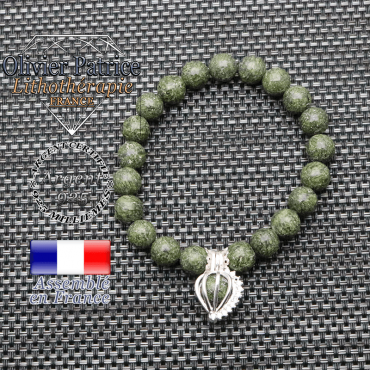 Bracelet serpentine cage strass argent 925
