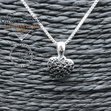 Pendentif spinelle coeur en argent 925