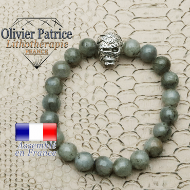 bracelet homme en labradorite pierre naturelle en 10 mm