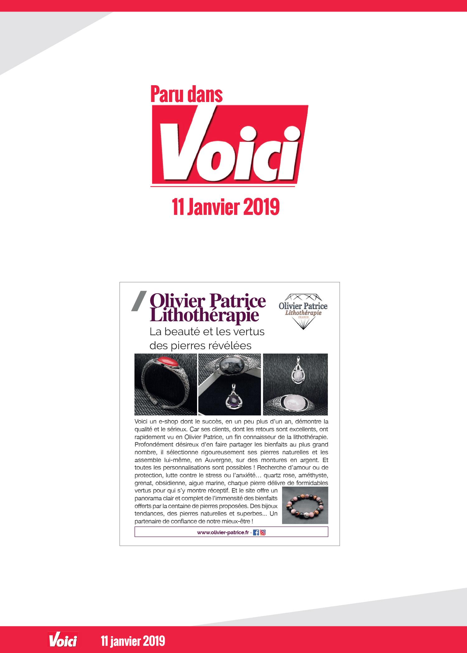 Article Voici Janvier 2019