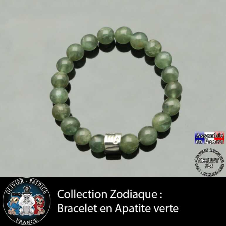 Bracelet apatite verte astrologique