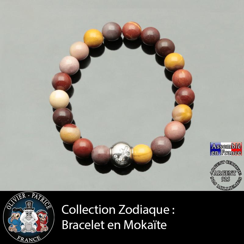 Bracelet Collection Zodiaque Jaspe Mokaite
