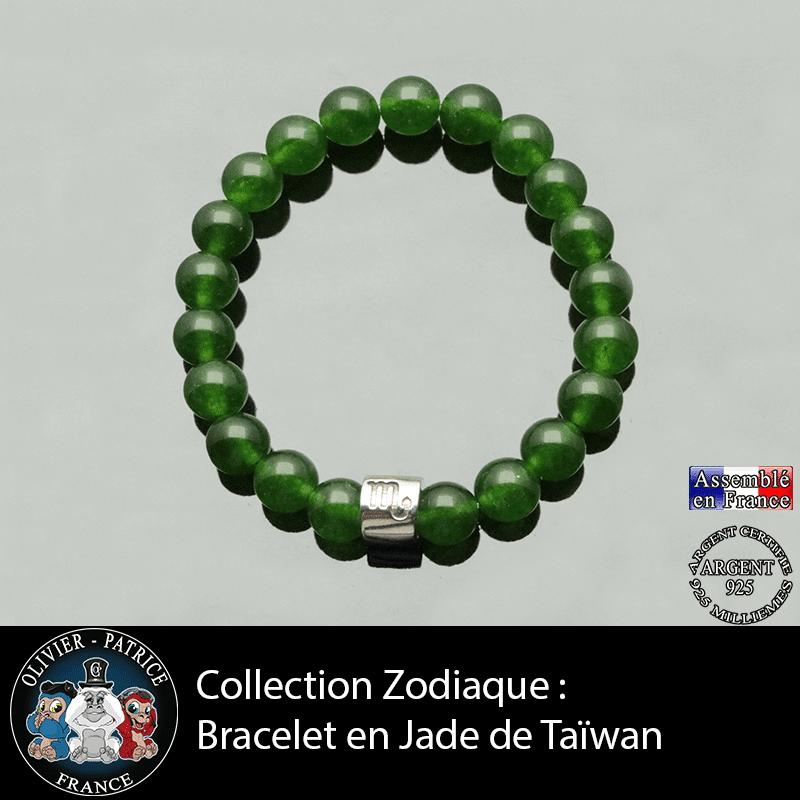 Bracelet collection zodiaque jade de taiwan