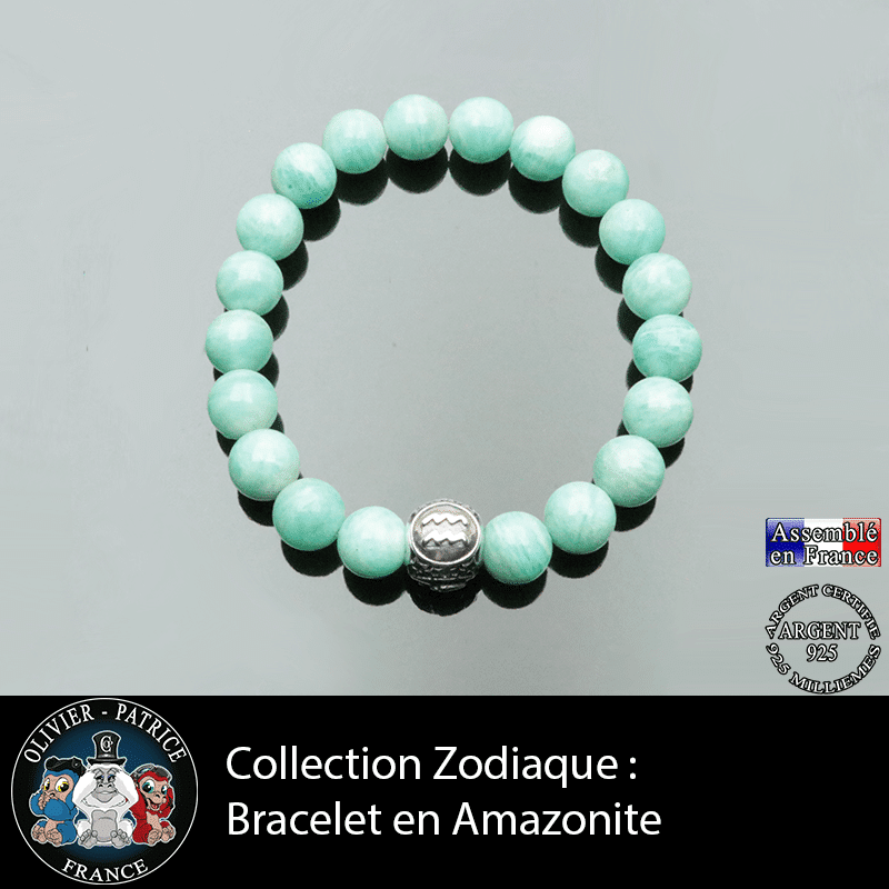 Bracelet collection zodiaque amazonite