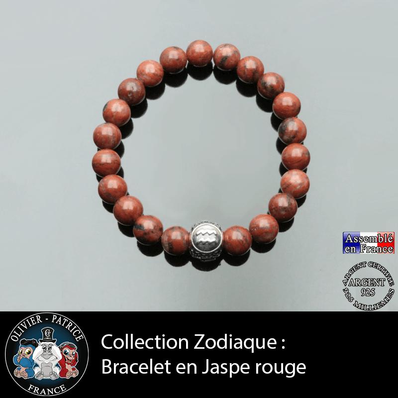 Bracelet Zodiaque Jaspe Rouge