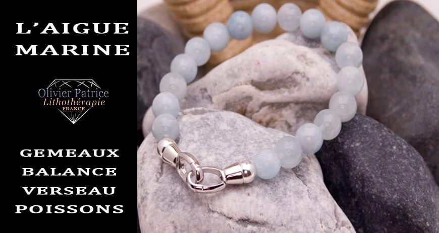 Aigue marine : la pierre à l'honneur au mois de juin